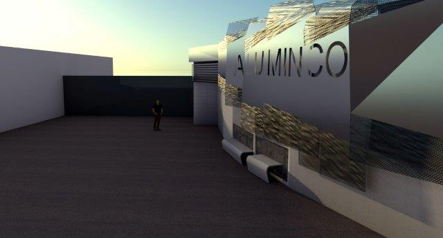 Aluminco Factory Entrance Concept