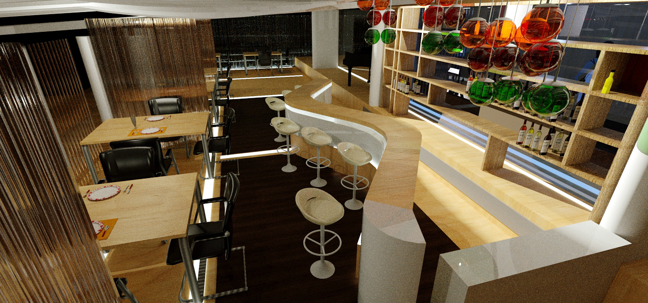 BAR - Restaurant Interior Design - Conceptual
